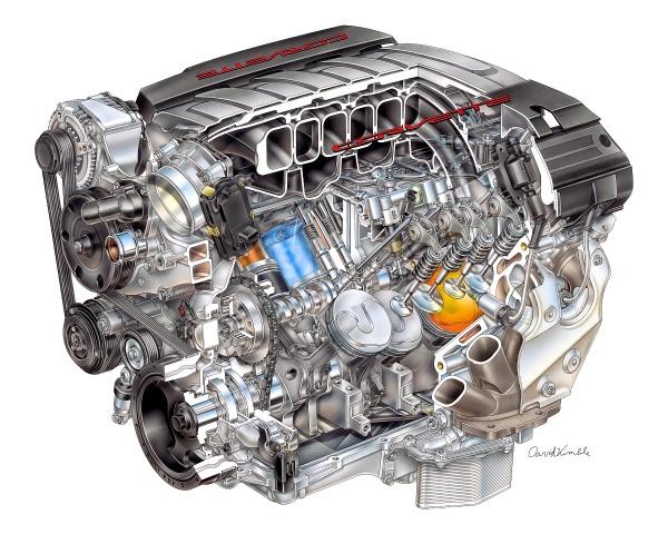 2014-er-Corvette-Motor