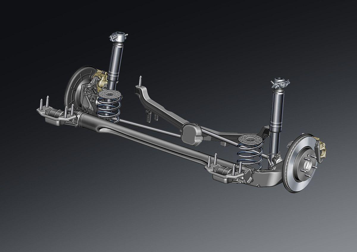 Opel Cascada – Hinterachse mit Wattgestänge