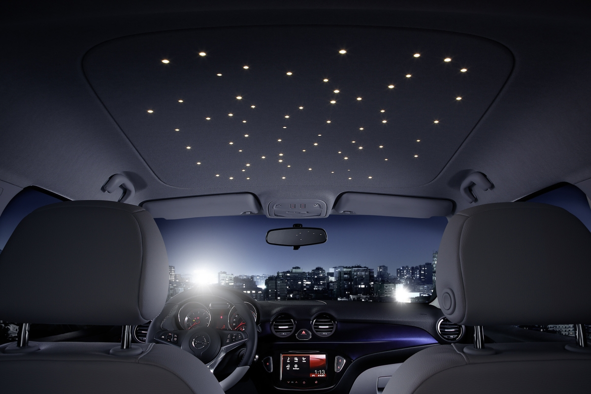 planetarium to go innovativer led dachhimmel im neuen opel adam automotive technology. Black Bedroom Furniture Sets. Home Design Ideas