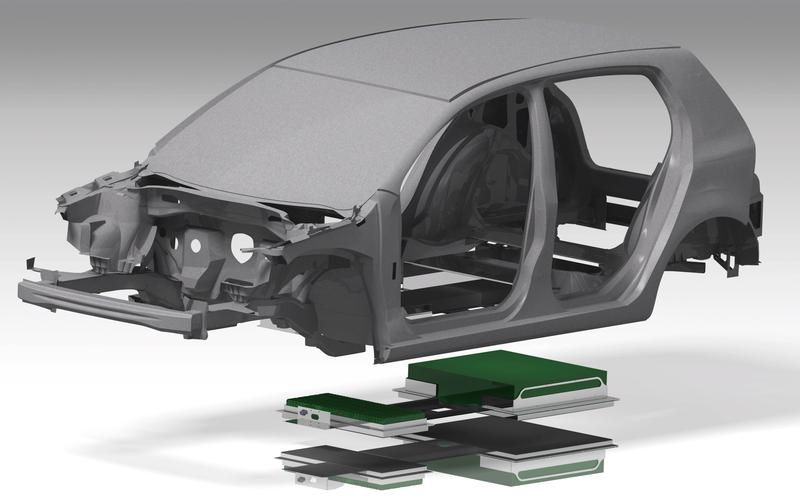 Konzeptstudie einer leichtbauoptimierten Fahrzeugkarosserie der C-Klasse mit integriertem Energiespeichersystem