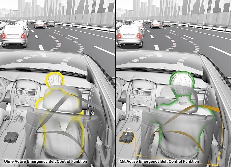 Aktiver Sitzgurt reduziert die Unfallschwere