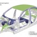 Neue Mercedes C-Klasse Rohbaukarosserie