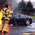 Brennender Tesla Model SBrennender Tesla Model S