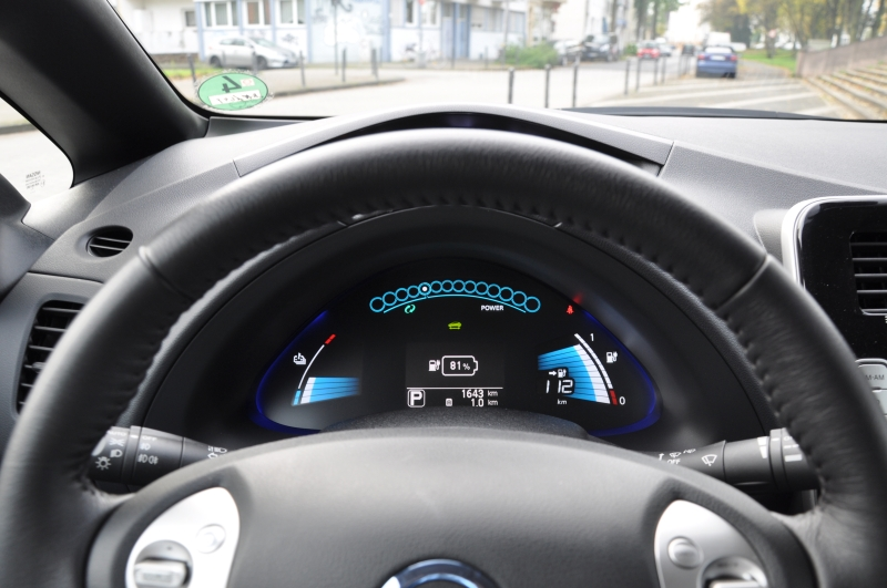 Nissan Leaf Test Cockpit