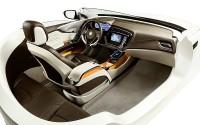 Das Bespoke-Interieur zeigt die Vision von Johnson Controls zur Integration von Elektronik, Innenraumkomponenten und Sitzen in Premiumfahrzeugen. Bild: Johnson Controls