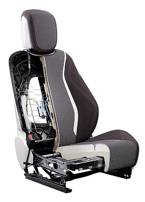 Ein zentrales Element des Synergy Seat Gen 3 ist die extrem stabile Rückenlehne aus Organoblech, die die herkömmliche Metallstruktur im Inneren der Rückenlehne überflüssig macht.