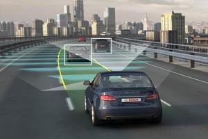 Selbstfahrende Autos sollen etwa drei Viertel aller Neuzulassungen bereits im Jahr 2035 weltweit ausmachen, besagt eine Studie der amerikanischen Unternehmensberatung Navigant Research Bild: Bosch