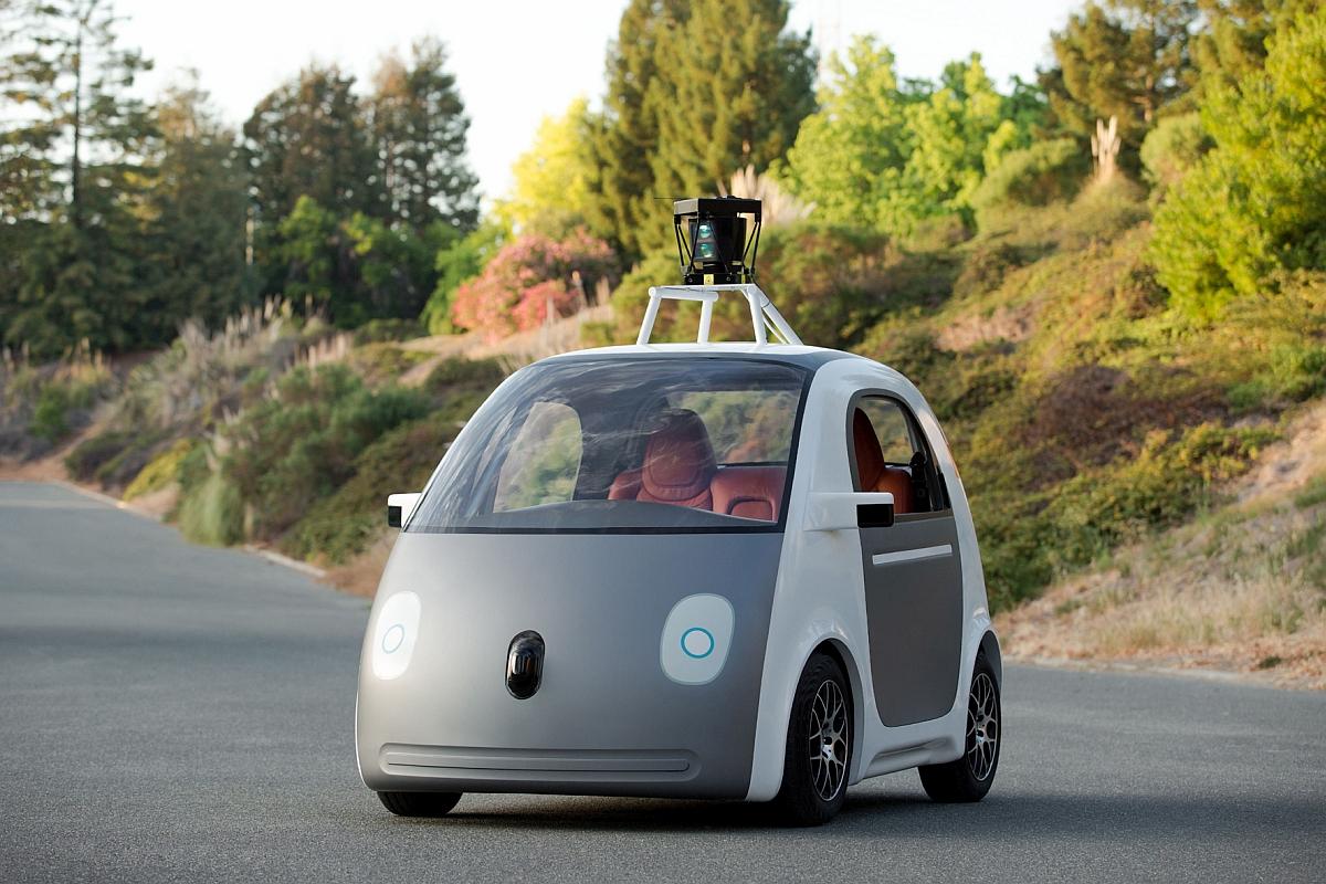 Technisch schon Realität – das selbstfahrende Auto von Google hat weder Lenkrad noch Pedale. Bild Google