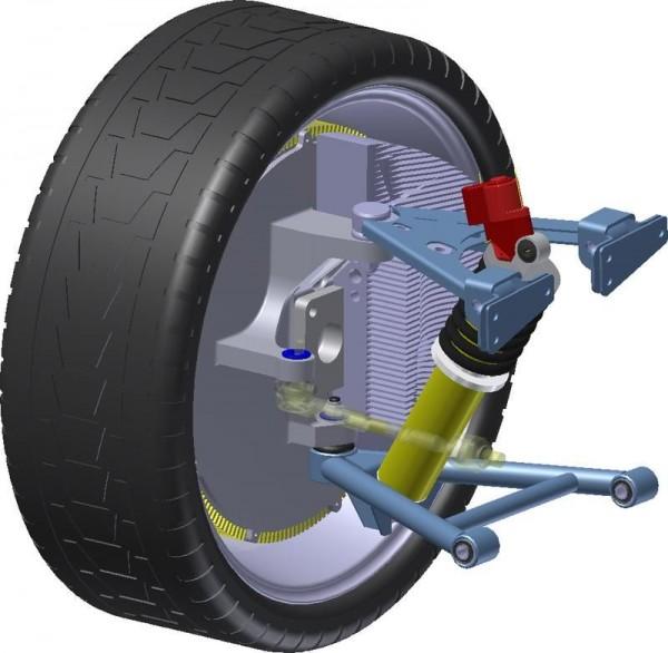 Elektrifizierte Achse mit Radnabenmotor
