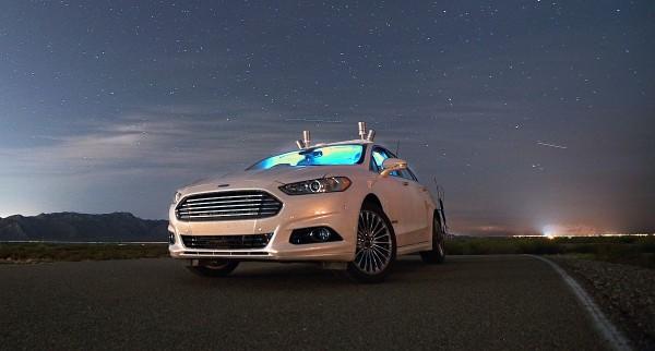 Ford-Fusion-Forschungsfahrzeug LiDAR