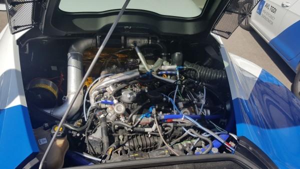 Alfa Romeo 4C mit Biturbo-Abgasturbo und elektrischer Aufladung. Bild: Jens Meiners