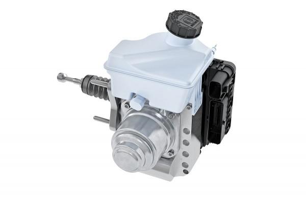 Continental MK C1: Bei der MK C1 sind die Funktionen der Bremsbetätigung, des Bremskraftverstärkers sowie des Regelsystems in einem Modul zusammengefasst.