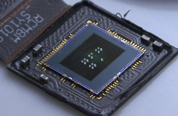 CMOS Sensor mit jeweils vier Linsen unterschiedlicher Brennweite