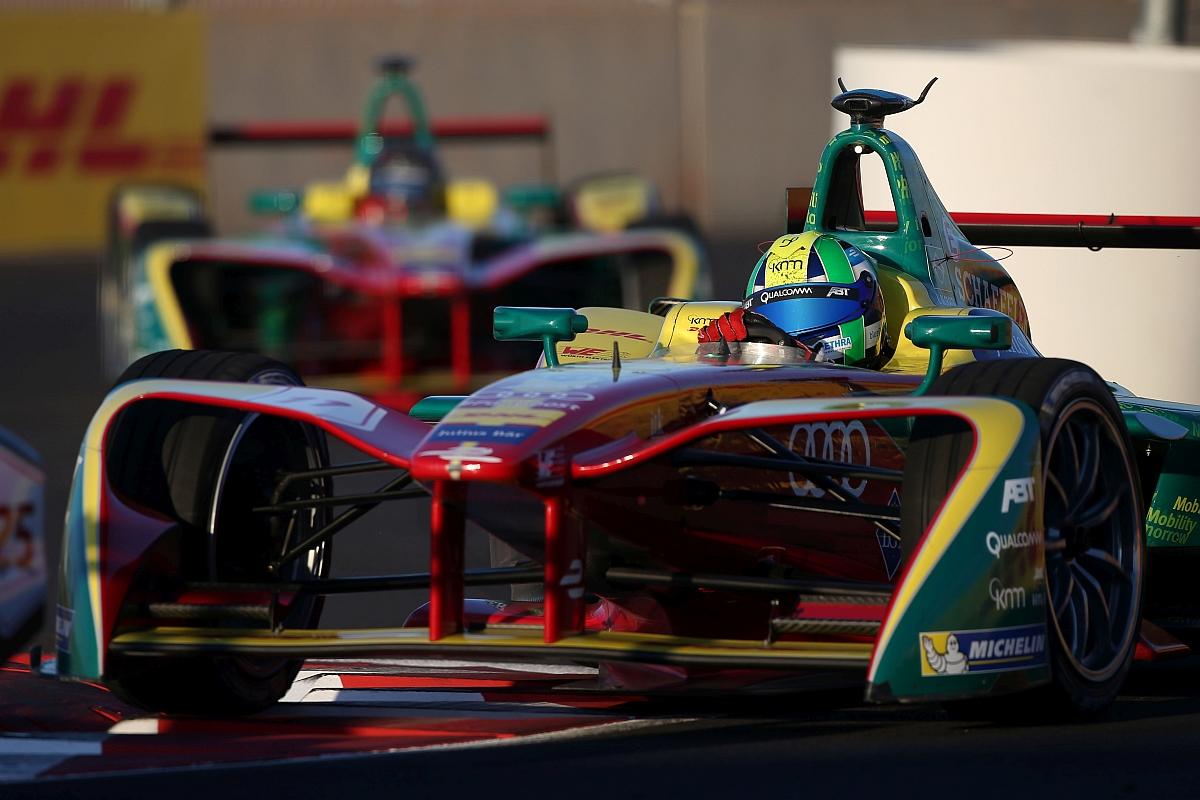 Lucas di Grassi und Daniel Abt beim Formel E-Rennen in Marrakesch am 12. November 2016 ‒ ITK Engineering ist Software-Entwicklungspartner des Teams ABT Schaeffler Audi Sport. (Foto: ABT Schaeffler Audi Sport)