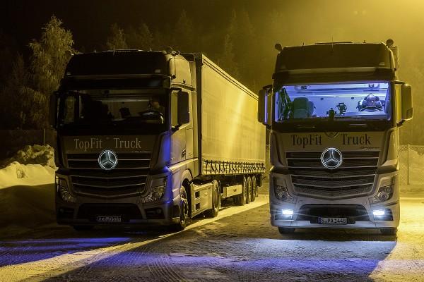 Daimler Trucks Tests mit künstlichem Tageslicht im LKW-Fahrerhaus 2