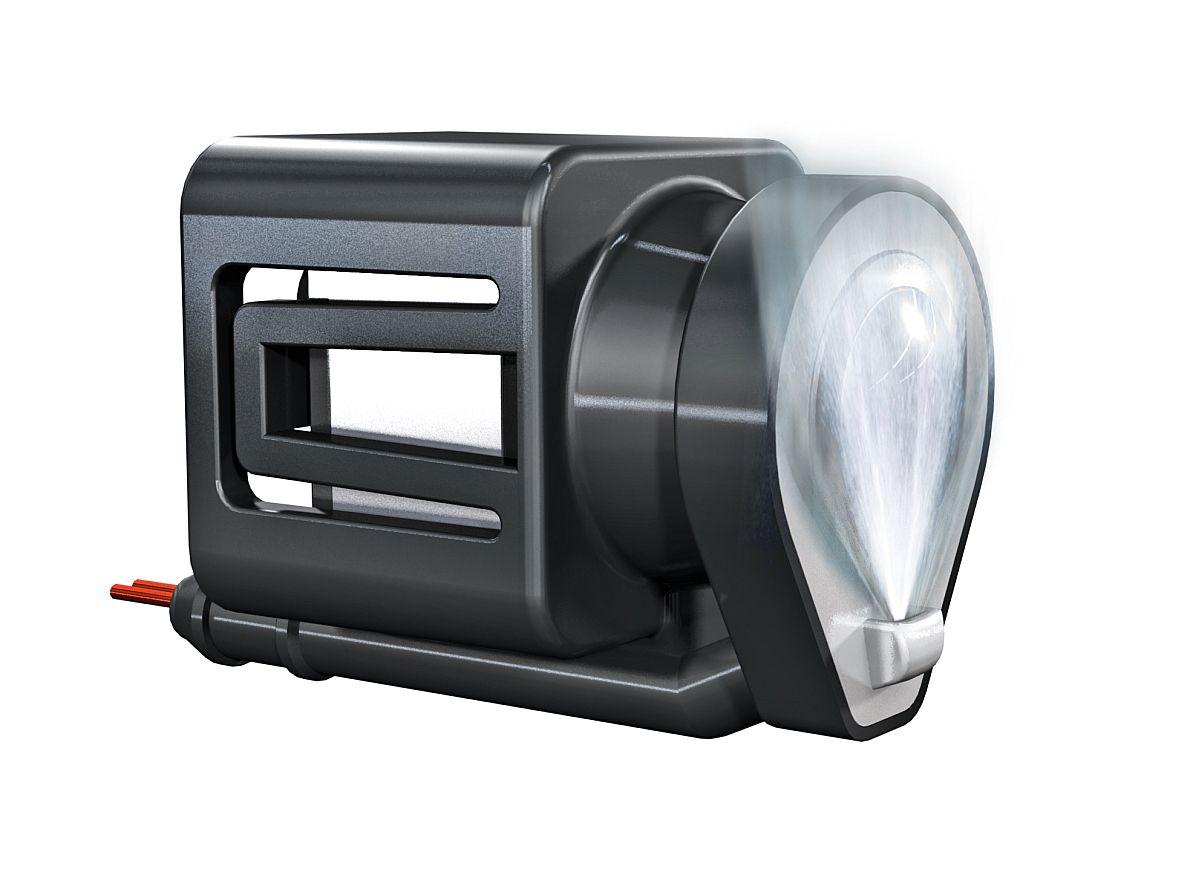 Das Reinigungssystem entfernt Verschmutzungen auf der Kameralinse durch einen Wasserstrahl.