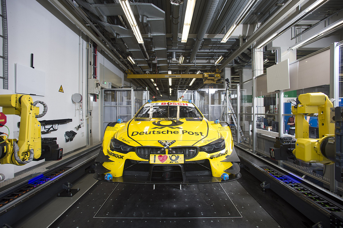State-of-the-Art-Qualitätskontrolle 3D-Messtechnik beim BMW M4 DTM