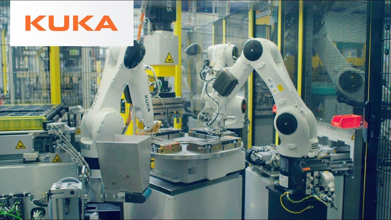 Fallstudie: 25 Kuka-Roboter fertigen komplexe Steuergehäuse für elektrische Lenksysteme