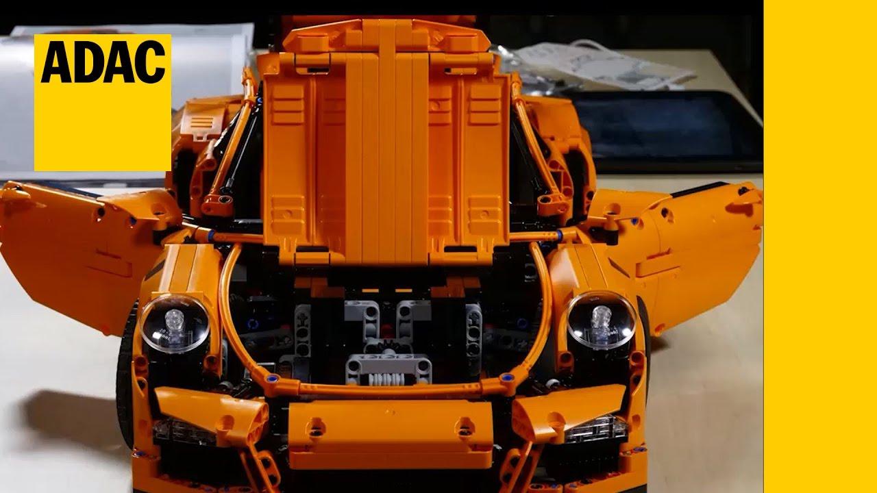 Miniatur-Crashtest: ADAC crasht den Porsche 911 GT3 RS von Lego