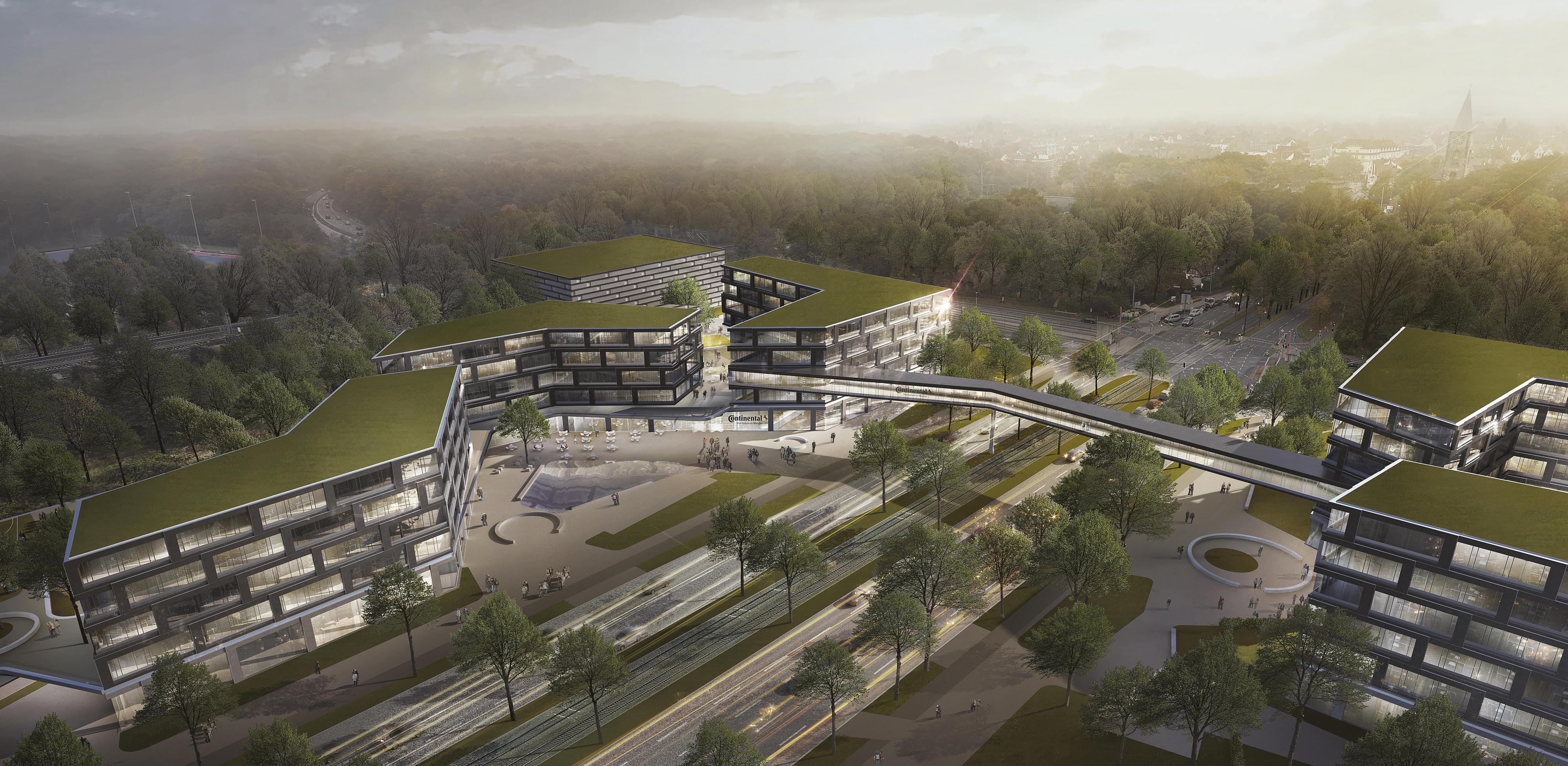 So wird die neue Zentrale von Continental aussehen