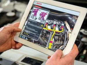 Vielfältige zukünftige Augmented Reality-Lösungen für Service, Reparatur und Training